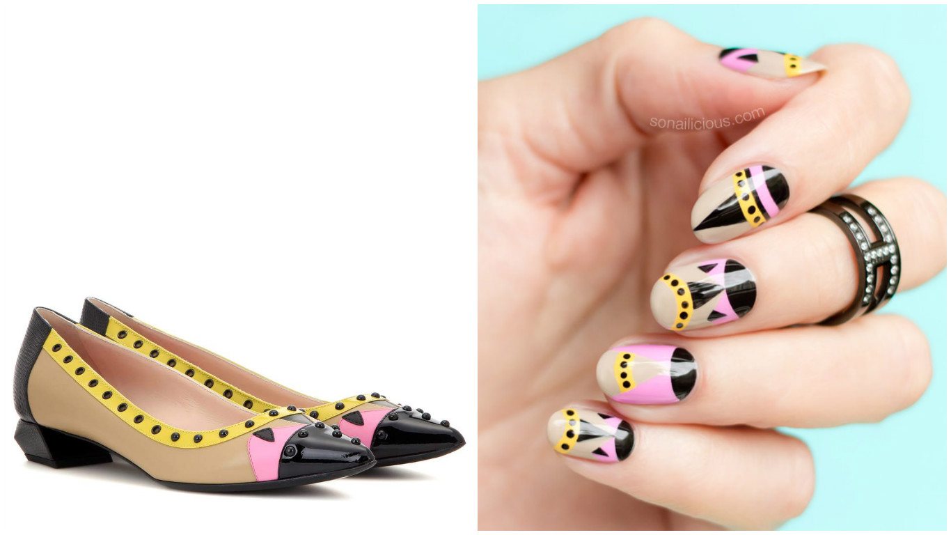 Можешь себе позволить: эффектный дизайн туфель Fendi на ногтях