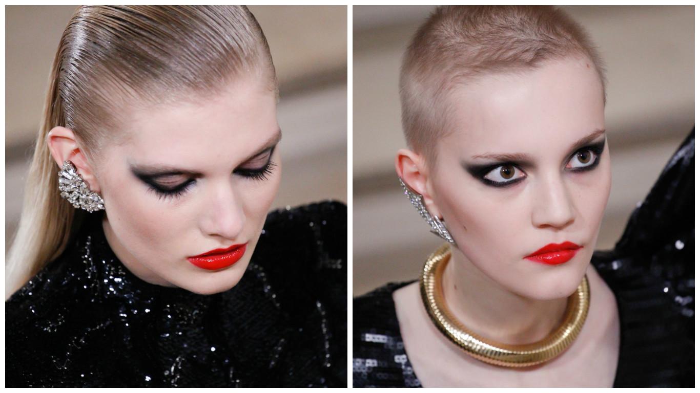 Мастер-класс: как повторить смелый макияж с показа Saint Laurent осень-зима 2016 фото