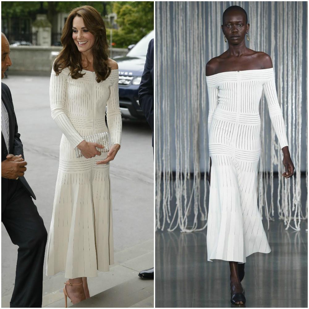 Образ дня: Кейт Миддлтон в платье с открытыми плечами Barabara Casasola за 50000 гривен