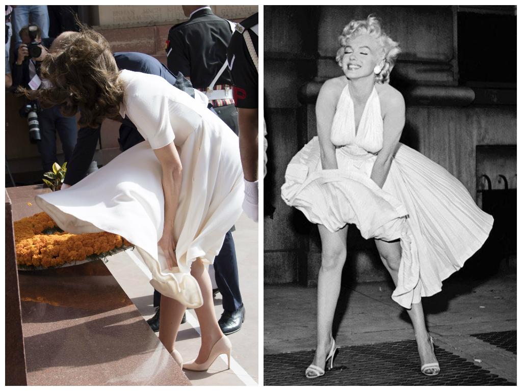 Второй день в Индии: Кейт Миддлтон в непослушном платье от Emilia Wickstead и торжественном от Temperley London
