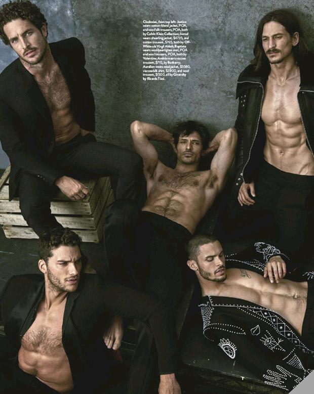 Обнаженные мужчины-супермодели снялись для нового номера GQ Австралия (ФОТО)