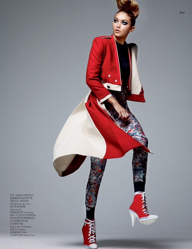 Спорт - это красиво: Джиджи Хадид продемонстрировала эстетическую часть спорта в Vogue China
