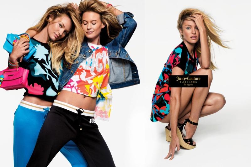 Кэндис Свейнпол и Бехати Принслу в яркой кампании Juicy Couture фото