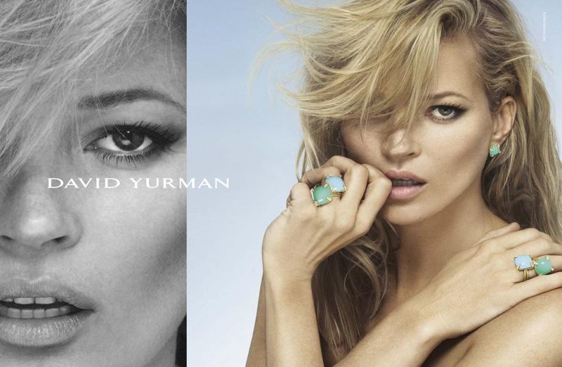 Дама в бирюзе: Кейт Мосс рекламирует роскошные украшения David Yurman фото