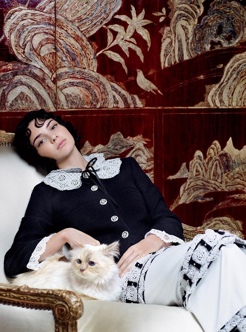 Кендалл Дженнер и кошка Карла Лагерфельда: как вам тандем?