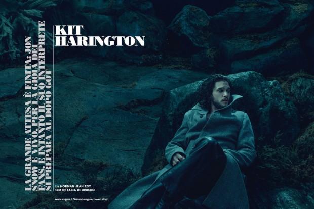 Джон Сноу жив: красавчик Кит Харингтон в большой фотосессии для LUomo Vogue