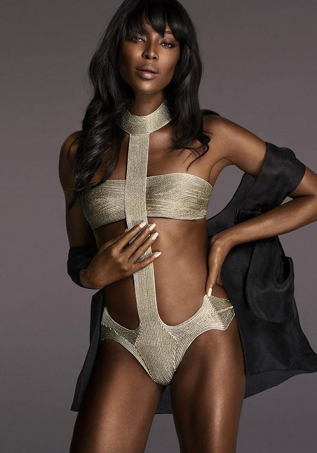 45-летняя Наоми Кэмпбелл блистает в рекламе нижнего белья