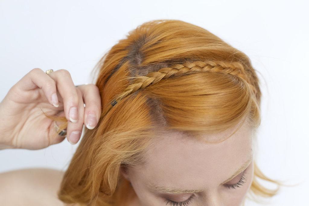 Коса ободок из волос своими руками