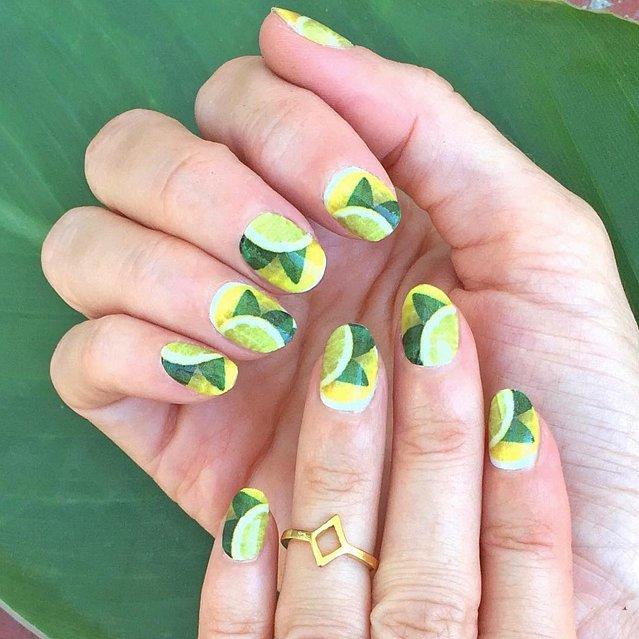 Ближе к лету: варианты маникюров с изображением лимонов - выбери свой!