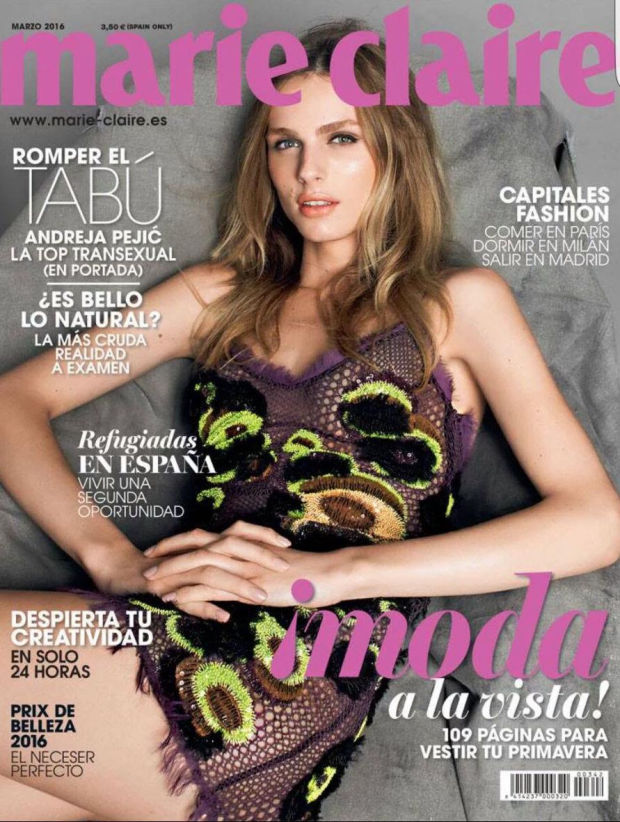 С возвращением: Андреа Пежич впервые украсила обложку журнала после смены пола