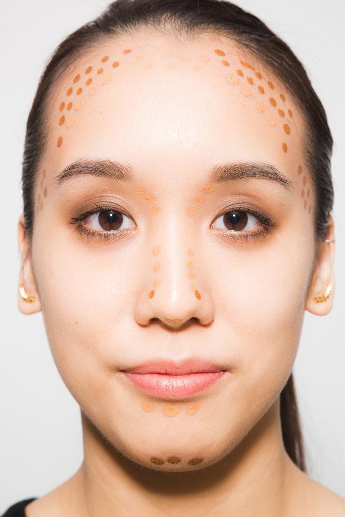Как сделать квадратики на лице