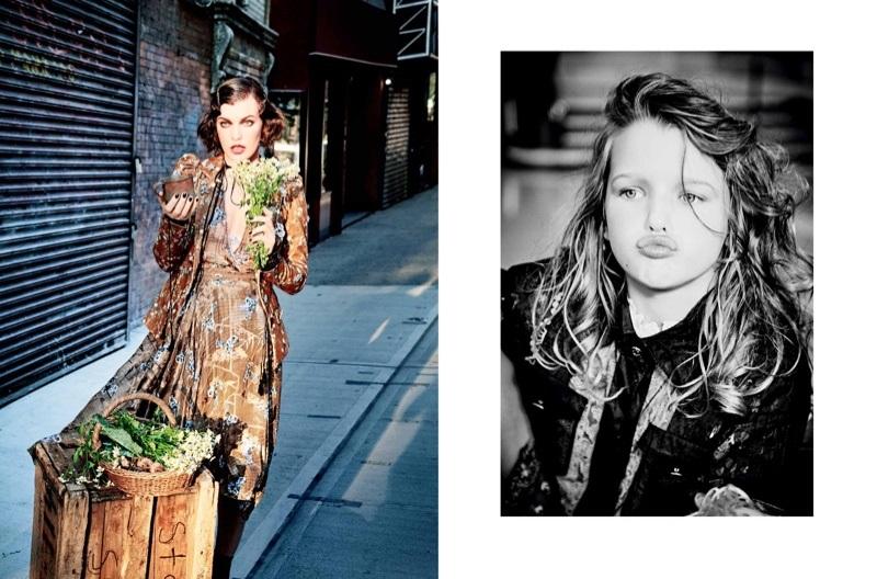 Милла Йовович блеснула красотой и безупречным стилем в новой фотосессии вместе с дочкой (ФОТО)