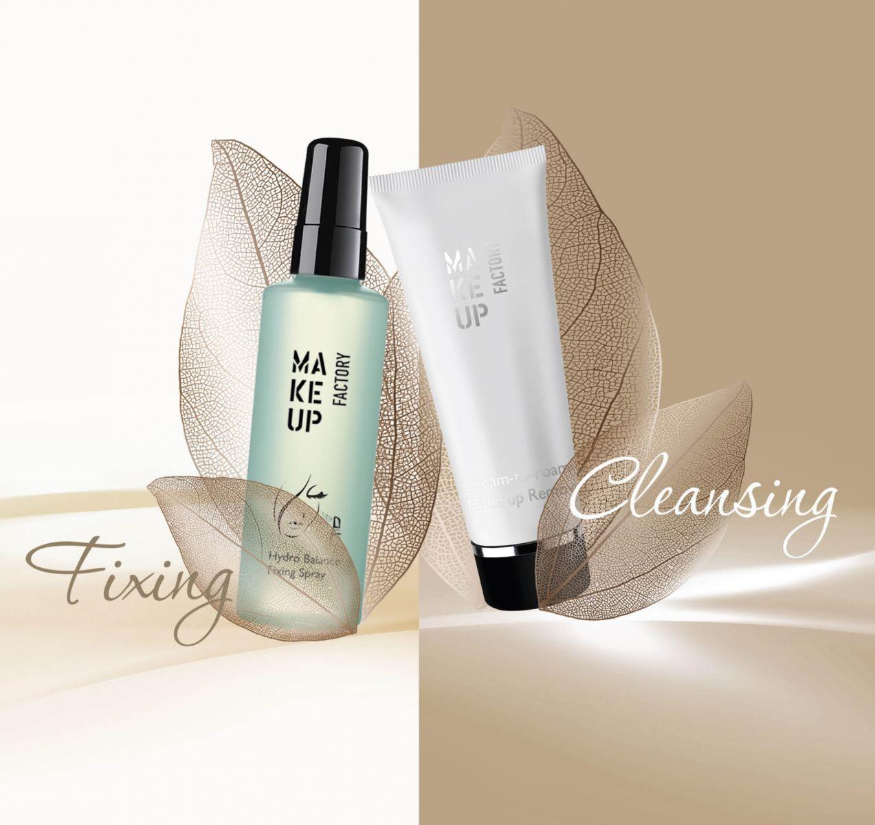 Летние помощники: новый спрей Hydro Balance Fixing Spray и пенка Cream-to-Foam Make up Remover от Make up Factory
