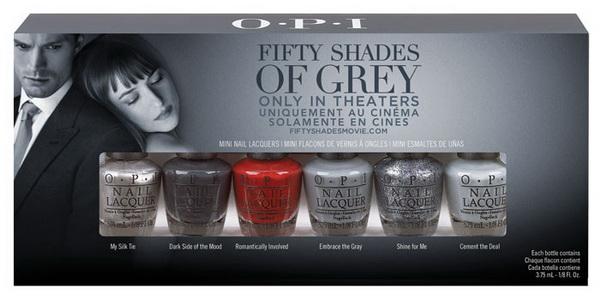 Коллекция лаков для ногтей OPI в честь 50 оттенков серого