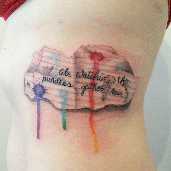 Нарисуй мне красиво: новый тренд из Instagram - акварельные татуировки
