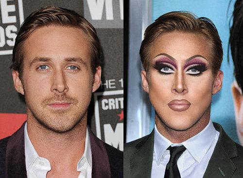 Как выглядели бы голливудские красавчики, если б красились как Ким Кардашьян