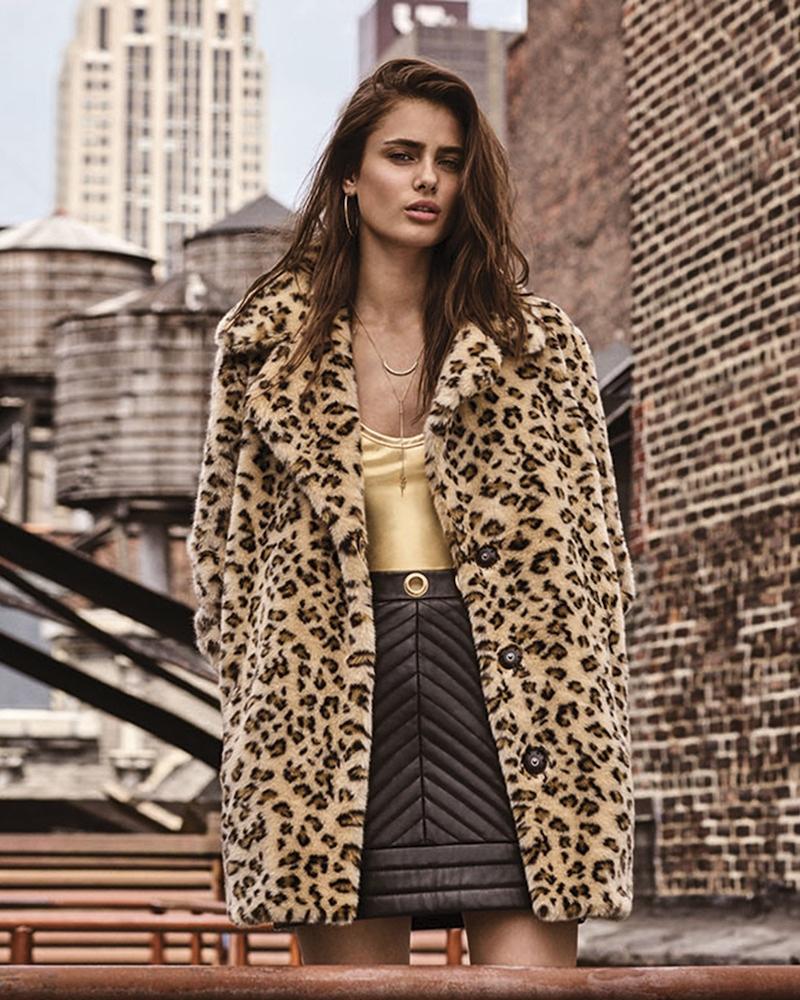 Леопардовый принт и тренчи: Тейлор Хилл в новой осенне-зимней кампании Topshop (ФОТО)