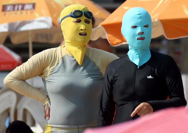 О времена, о нравы: в Азии пользуются популярностью купальники для лица