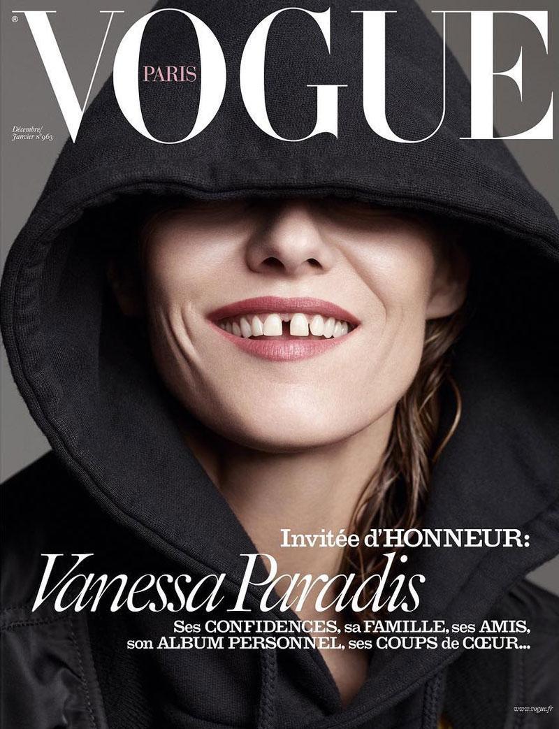 Раз, два, три: Ванесса Паради появилась сразу на трех обложках Vogue Paris