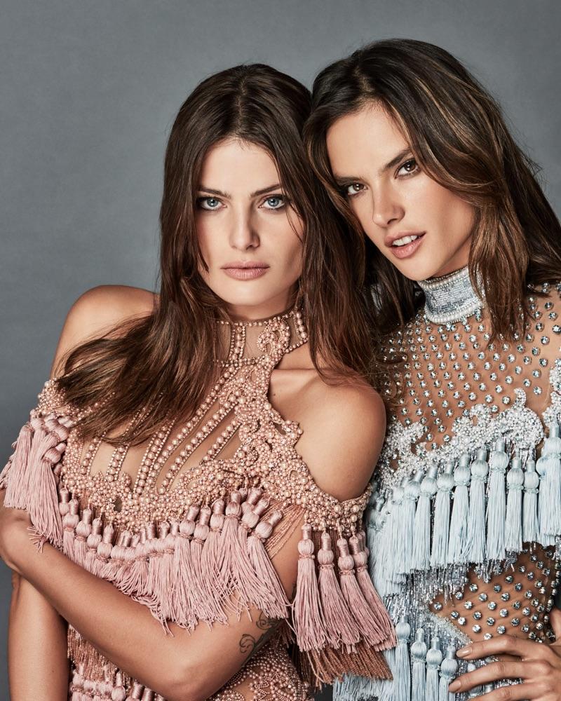 Алессандра Амбросио и Изабели Фонтана блеснули роскошью в нарядах от Balmain в фотосессии для Vogue (ФОТО)