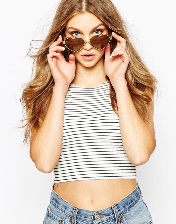 Солнцезащитные очки с сердцевидной оправой от Wildfox