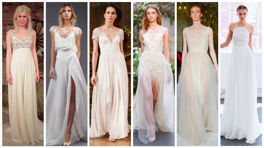 """Повод сказать """"да"""": 29 лучших подвенечных платьев Bridal Fashion Week для свадьбы на побережье"""