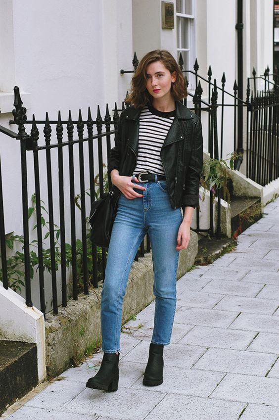 С чем носить Mom jeans?
