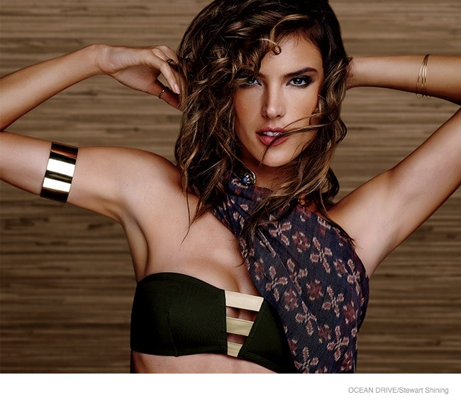 Красавица Алессандра Амбросио продемонстрировала идеальные локоны