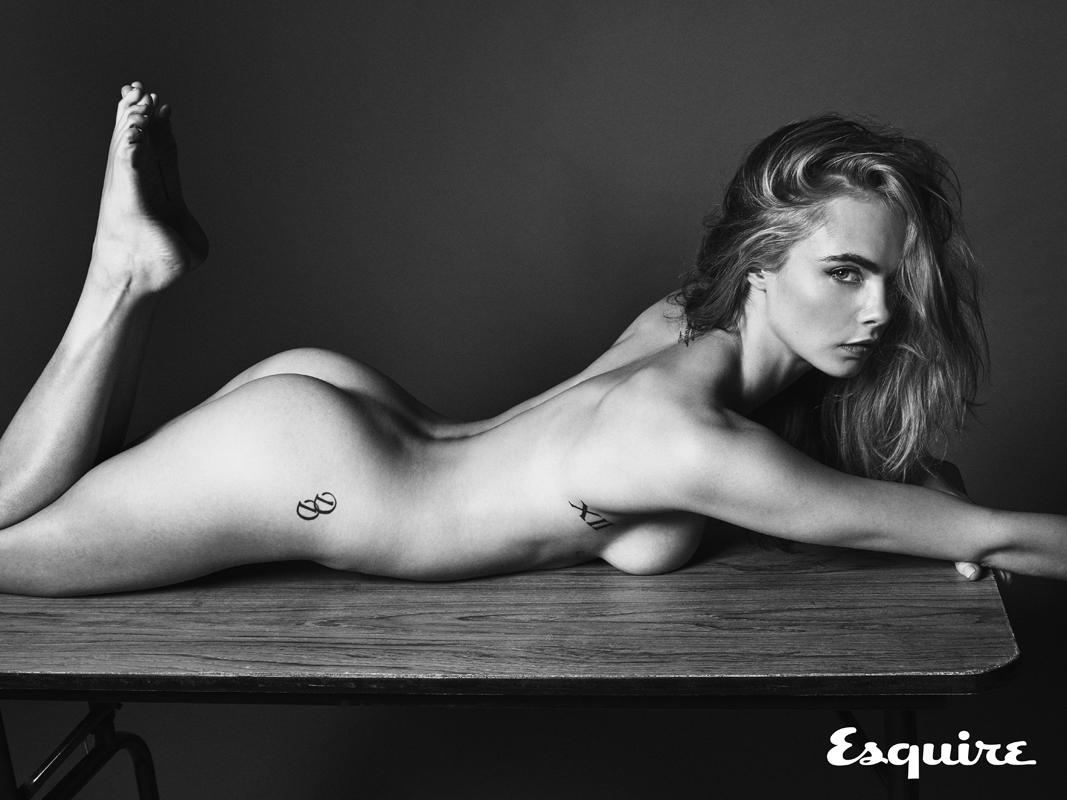 Кара Делевинь полностью обнажилась для журнала Esquire (ФОТО)