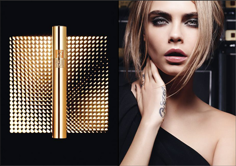 Красавица Кара Делевинь представила 3 звездных продукта YSL