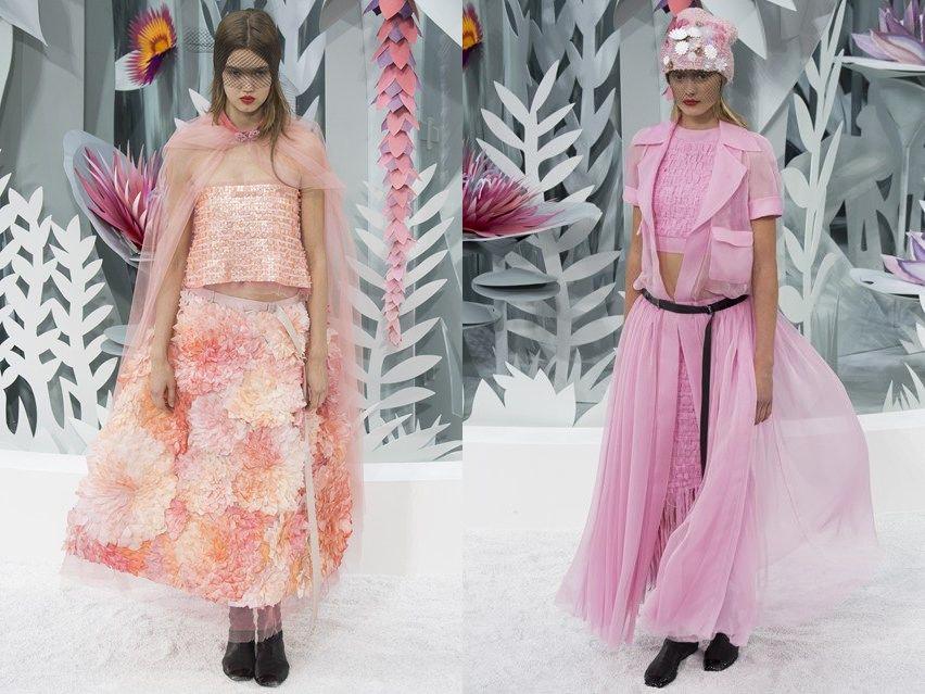 Показ Chanel haute couture весна-лето 2015