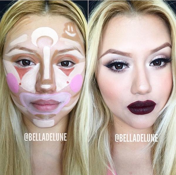 Техника клоуна: в сети появился новый тренд контурирования лица