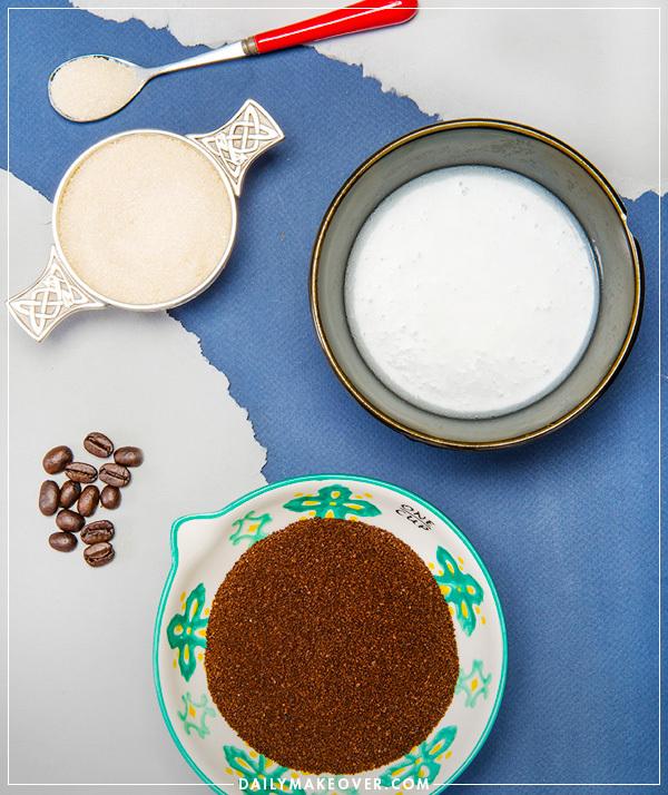 Кокосового-кофейный скраб для тела