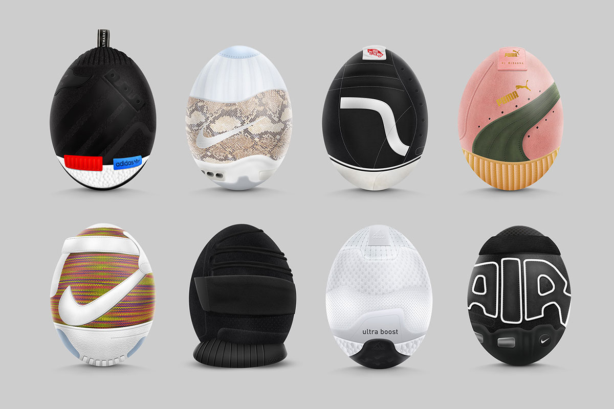 Пасха и спорт: дизайнер из Индонезии превратил самые модные кроссовки сезона в яйца