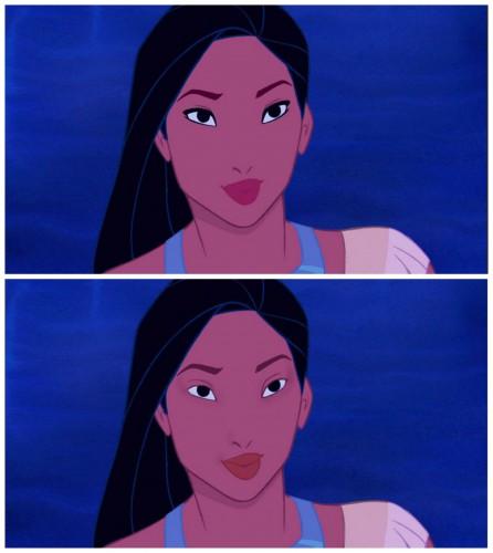 Чистые лица: Если бы диснеевские принцессы не носили макияж?
