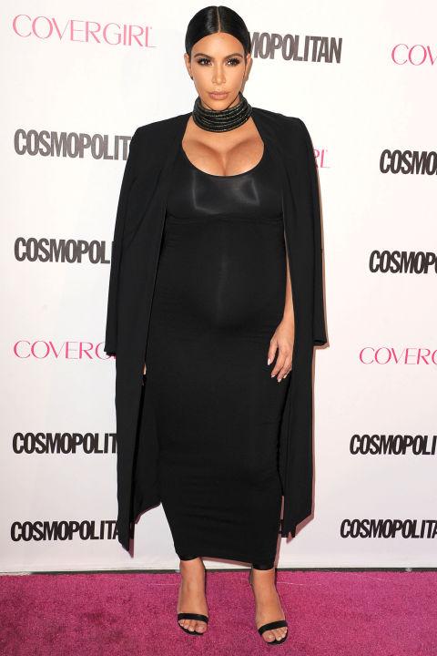 Лучшие образы беременной Ким Кардашьян 2015 фото