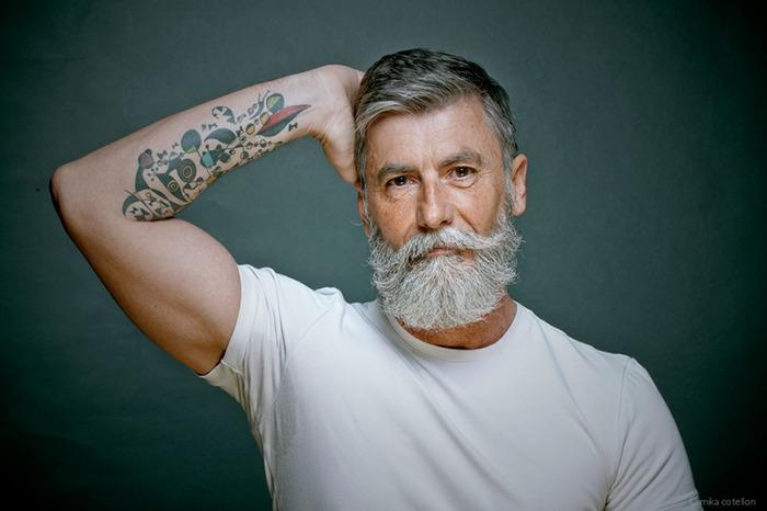 Красивее молодых парней: пенсионер-бородач из Франции стал моделью благодаря интернету
