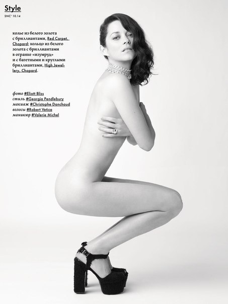 Марион Котийяр обнажилась для русского глянца