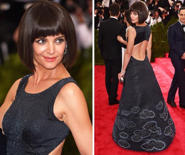 Кэти Холмс на балу Института костюма: парик или новая стрижка?