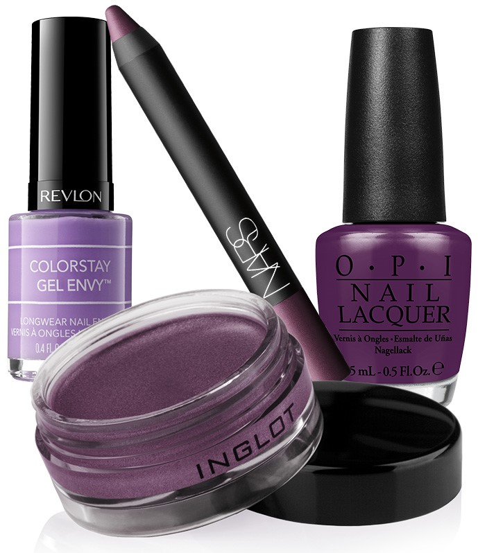 Фиолетовый - трендовый оттенок макияжа на зиму 2014!