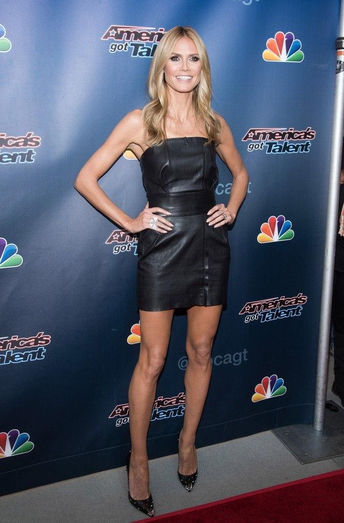 Фотофакт: длинноногая Хайди Клум оделась не по годам