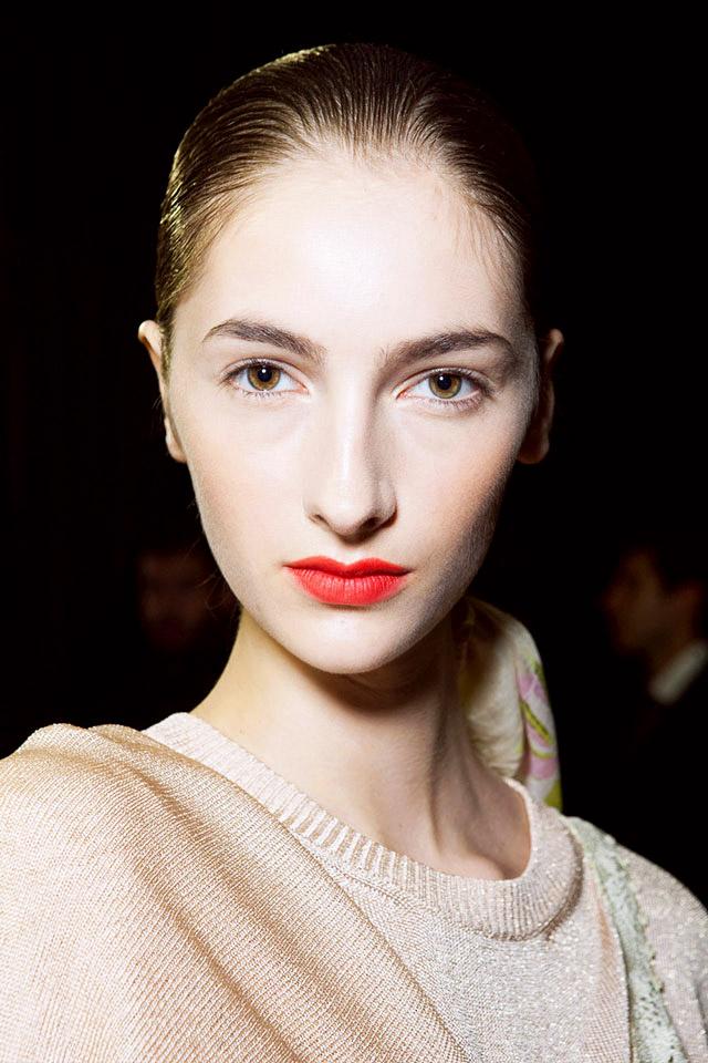 Оранжевые губы на показе Missoni: