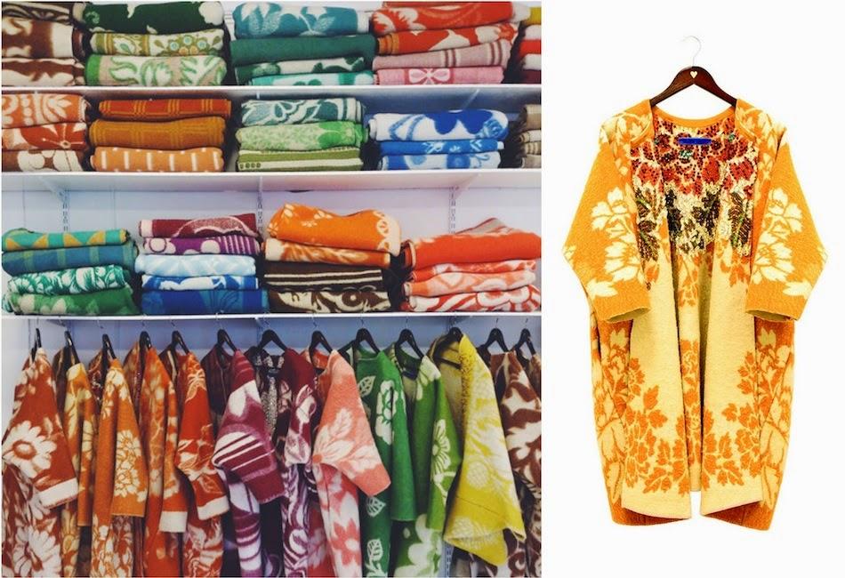 Зимняя спячка: пальто из советских одеял продают за 2000 евро