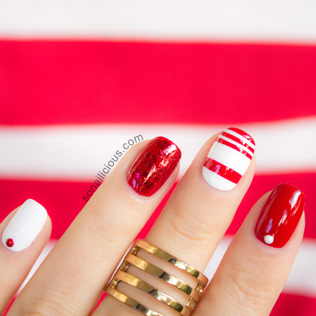 Маникюр пятницы: красно-белый нейалрт в стиле Viva!Beauty Day