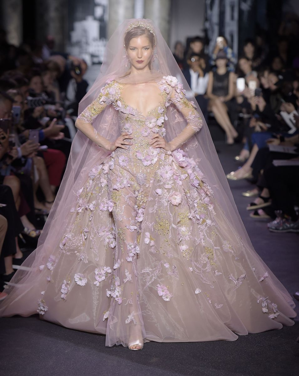 Elie Saab Haute Couture осень-зима 2016 показ фото