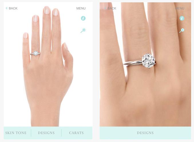 Как работает приложение Engagement Ring Finder?