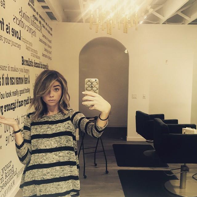 Милашка: Сара Хайленд похвасталась новой стрижкой