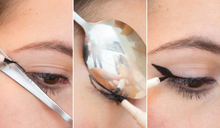 Как сделать стрелки на глазах фото жидкой подводкой