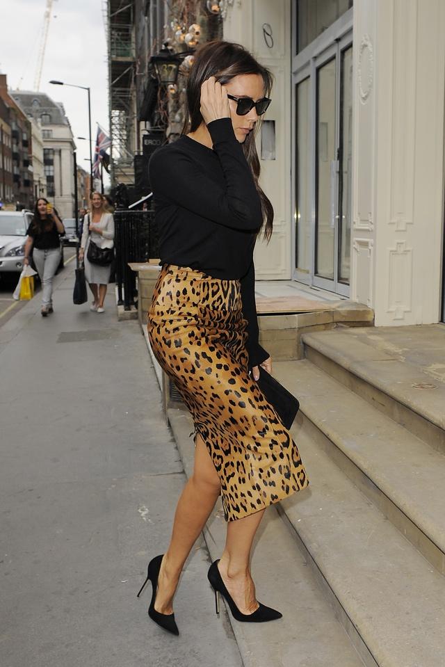 Стильная Виктория Бекхэм показала как носить леопардовый принт