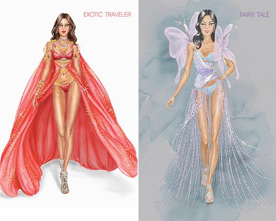 В сети появились эскизы костюмов ангелов Victorias Secret